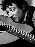 Een foto van de lookalike van Bob Dylan