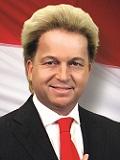 Een foto van de lookalike van Geert Wilders