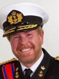 Een foto van de lookalike en imitator van  Koning Willem Alexander