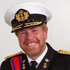 Een foto van de lookalike en imitator vanKoning Willem Alexander