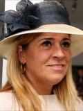 Een foto van de lookalike van Koningin Maxima