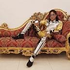 Een foto van de lookalike en imitator vanMichael Jackson