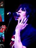 Een foto van de lookalike van Mick Jagger