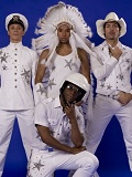 De foto van de lookalike en imitator van  The Village People