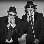 Een foto van de lookalike en imitator vanThe Blues Brothers